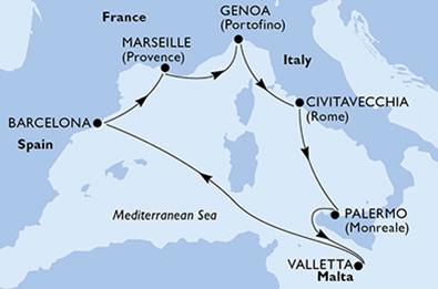 MSC Grandiosa del 16 Marzo 2020 da Palermo